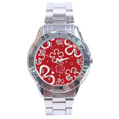 Flower Red Cute Stainless Steel Analogue Watch by Jojostore