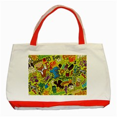 F Pattern Cartoons Classic Tote Bag (red) by Jojostore