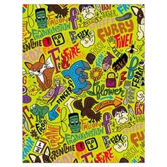 F Pattern Cartoons Drawstring Bag (large) by Jojostore