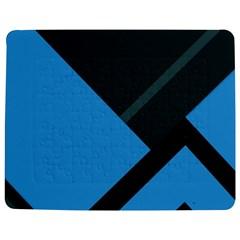 Lines Textur  Stripes Blue Jigsaw Puzzle Photo Stand (rectangular) by Jojostore