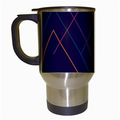 Line Color Travel Mugs (white) by Jojostore