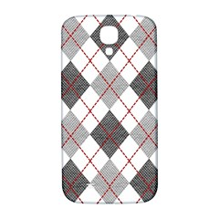 Fabric Texture Argyle Design Grey Samsung Galaxy S4 I9500/i9505  Hardshell Back Case by Jojostore