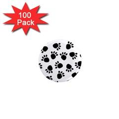 Paws Black Animals 1  Mini Magnets (100 Pack)  by Jojostore