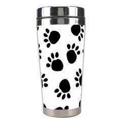 Paws Black Animals Stainless Steel Travel Tumblers by Jojostore