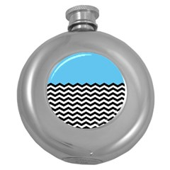 Color Block Jpeg Round Hip Flask (5 Oz) by Jojostore