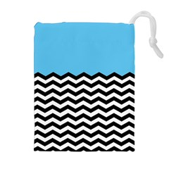 Color Block Jpeg Drawstring Pouches (extra Large) by Jojostore