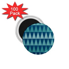 Blues Long Triangle Geometric Tribal Background 1 75  Magnets (100 Pack)  by Jojostore
