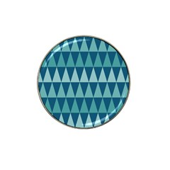 Blues Long Triangle Geometric Tribal Background Hat Clip Ball Marker (10 Pack) by Jojostore