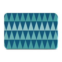 Blues Long Triangle Geometric Tribal Background Plate Mats by Jojostore