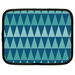 Blues Long Triangle Geometric Tribal Background Netbook Case (xxl)  by Jojostore