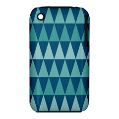 Blues Long Triangle Geometric Tribal Background Iphone 3s/3gs by Jojostore