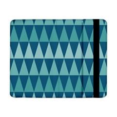 Blues Long Triangle Geometric Tribal Background Samsung Galaxy Tab Pro 8 4  Flip Case by Jojostore