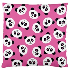 Cute Panda Pink Standard Flano Cushion Case (two Sides) by Jojostore