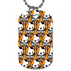 Face Cat Yellow Cute Dog Tag (one Side) by Jojostore