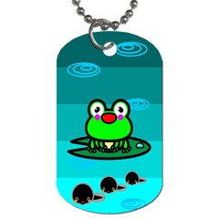 Frog Tadpole Green Dog Tag (two Sides) by Jojostore
