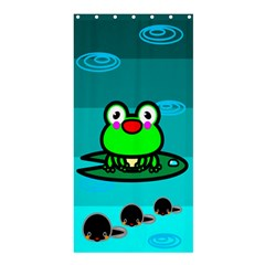 Frog Tadpole Green Shower Curtain 36  X 72  (stall)  by Jojostore