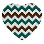 Green Chevron Ornament (Heart)  Front