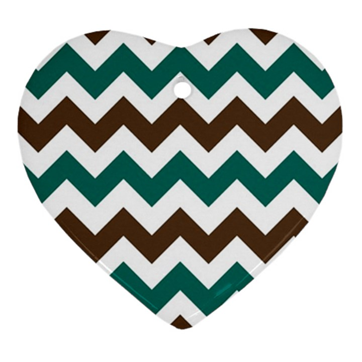 Green Chevron Ornament (Heart)