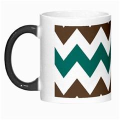Green Chevron Morph Mugs