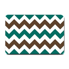 Green Chevron Small Doormat  by Jojostore