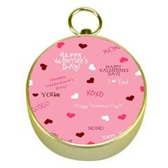 Happy Valentines Day Gold Compasses by Jojostore