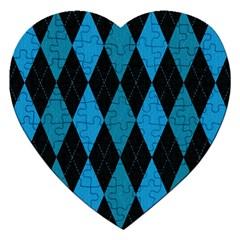 Fabric Background Jigsaw Puzzle (heart) by Jojostore