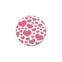 Heart Love Pink Back Golf Ball Marker (10 Pack) by Jojostore