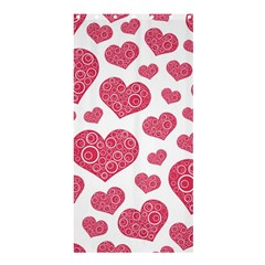 Heart Love Pink Back Shower Curtain 36  x 72  (Stall)  by Jojostore