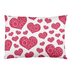 Heart Love Pink Back Pillow Case (two Sides) by Jojostore