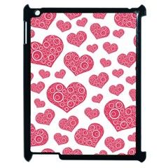 Heart Love Pink Back Apple Ipad 2 Case (black) by Jojostore