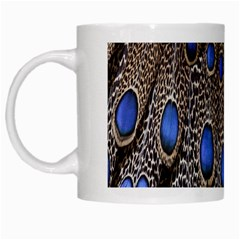Feathers Peacock Light White Mugs by Jojostore
