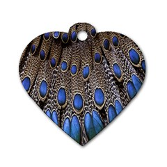 Feathers Peacock Light Dog Tag Heart (two Sides) by Jojostore