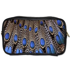 Feathers Peacock Light Toiletries Bags 2 Side by Jojostore