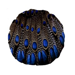Feathers Peacock Light Standard 15  Premium Round Cushions by Jojostore
