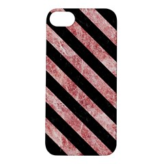 Stripes3 Black Marble & Red & White Marble (r) Apple Iphone 5s/ Se Hardshell Case