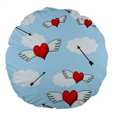 Love Hunting Large 18  Premium Round Cushions by Valentinaart