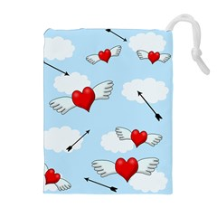 Love Hunting Drawstring Pouches (extra Large) by Valentinaart