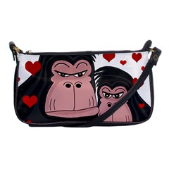 Gorillas Love Shoulder Clutch Bags by Valentinaart