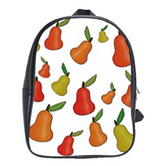 Decorative Pears Pattern School Bags(large)  by Valentinaart