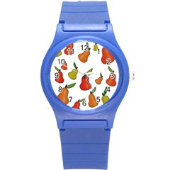 Decorative Pears Pattern Round Plastic Sport Watch (s) by Valentinaart