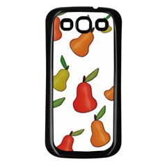 Decorative Pears Pattern Samsung Galaxy S3 Back Case (black) by Valentinaart