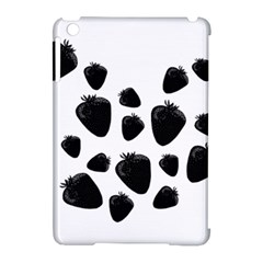 Black Strowberries Apple Ipad Mini Hardshell Case (compatible With Smart Cover) by Valentinaart