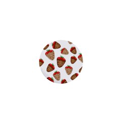 Chocolate Strawberries  1  Mini Buttons by Valentinaart