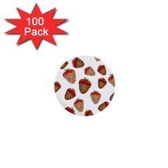 Chocolate Strawberries  1  Mini Buttons (100 Pack)  by Valentinaart