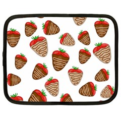 Chocolate Strawberries  Netbook Case (large) by Valentinaart