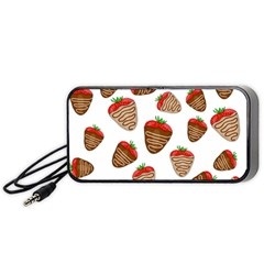 Chocolate Strawberries  Portable Speaker (black)  by Valentinaart
