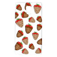 Chocolate Strawberries  Galaxy Note 4 Back Case by Valentinaart