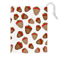 Chocolate Strawberries  Drawstring Pouches (xxl) by Valentinaart