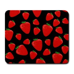 Strawberries Pattern Large Mousepads by Valentinaart