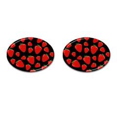Strawberries Pattern Cufflinks (oval) by Valentinaart